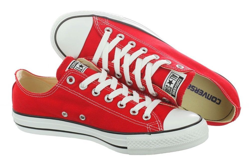52823bd418a6 CONVERSE Chuck Taylor All Star Shoes Red OX Low Top Unisex M9696 men 4  Women 6