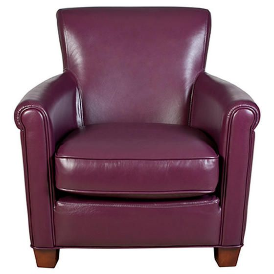 Tremendous Gavin Leather Club Chair Purple Live In Colour Leather Beatyapartments Chair Design Images Beatyapartmentscom