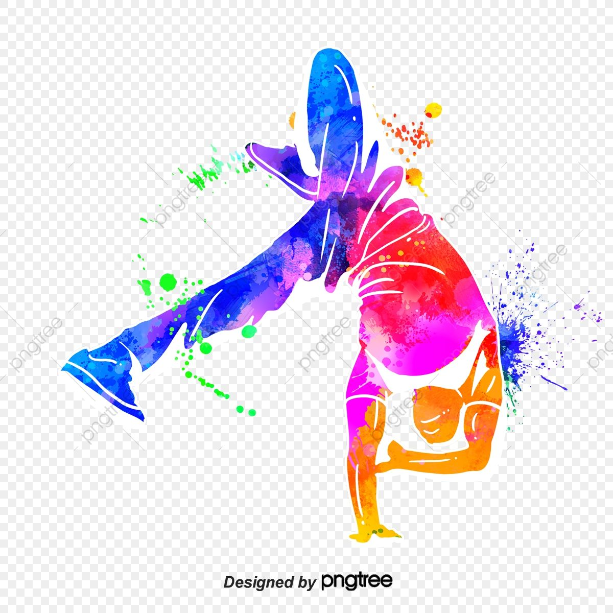 Silhouette Of Creative Hip Hop Dance Characters Dance Multicolored Character Png Transparent Clipart Image And Psd File For Free Download In 2021 Hip Hop Dance Music Logo Design Silhouette Art