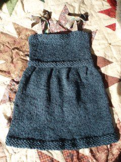 Knitted child's dress to empire-line top as child grows - great idea!