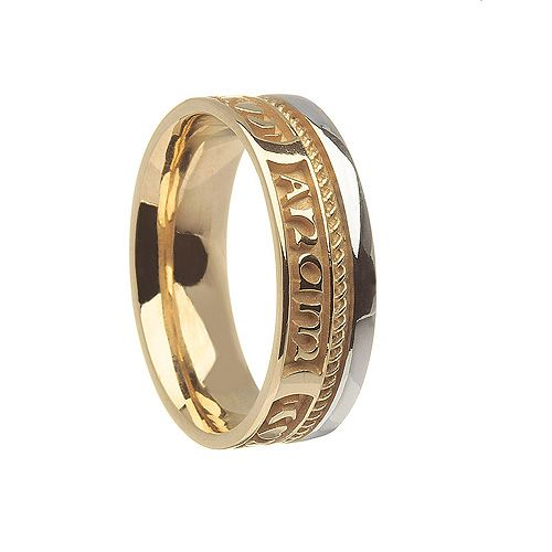 mo cara ladies white collections yellow signature soulmate anam on wedding ring text rings