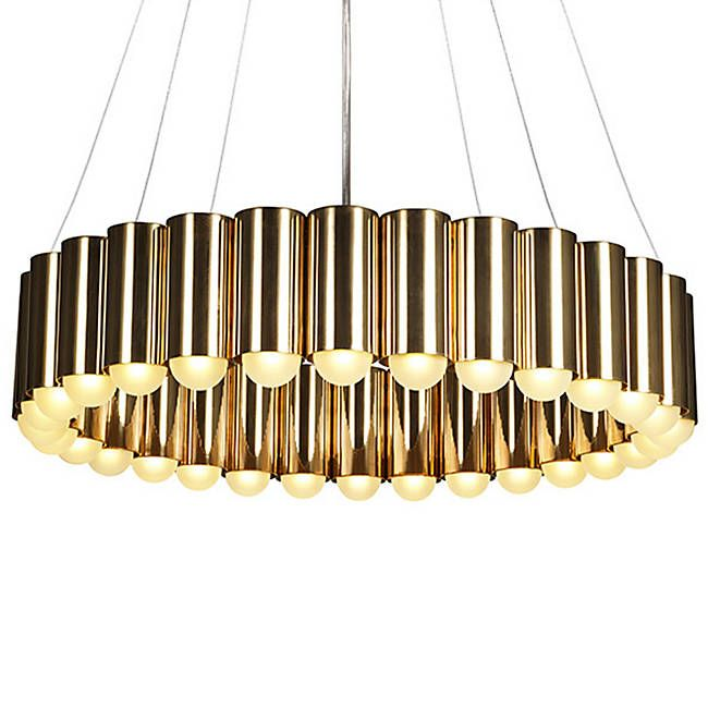 The Brass Carousel Chandelier By Lee Broom Is An Elegant Round Chandelier From A Master Of British Indust Pendant Light Brass Pendant Light Brass Ceiling Light