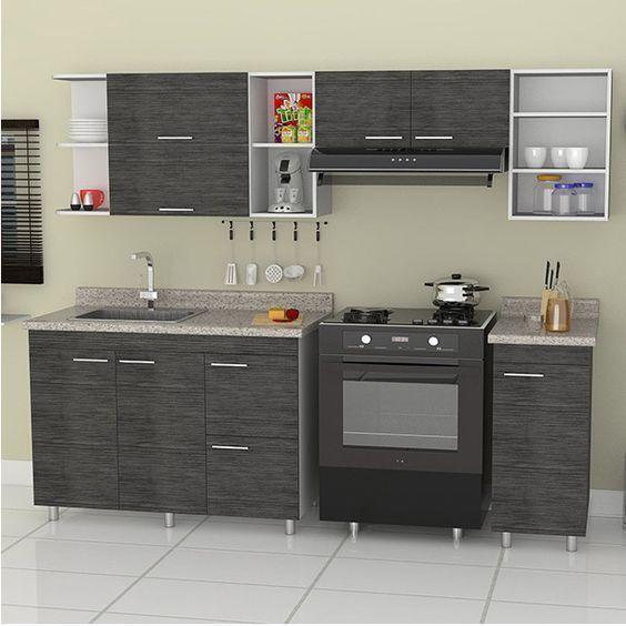 Decoracion de cocinas integrales peque as con detalles de - Cocinas super pequenas ...