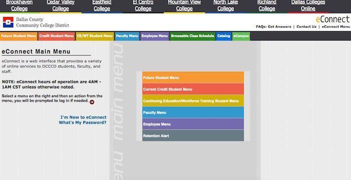 Dcccd Login Econnect Dcccd Edu Online Students Online