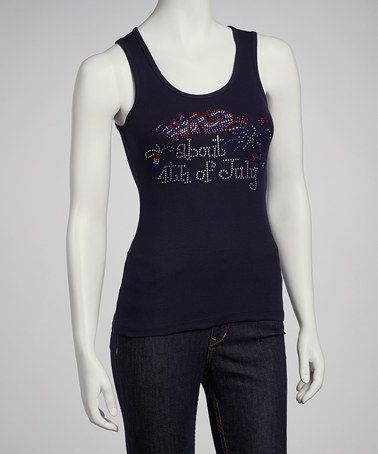 Take a look at this Navy Wild About 4th of July Tank - Women by Ready Set Sparkle Couture on #zulily today!
