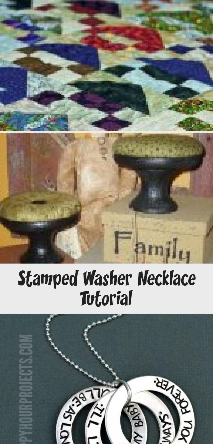 Photo of Stamped Washer Necklace Tutorial – Jewelry