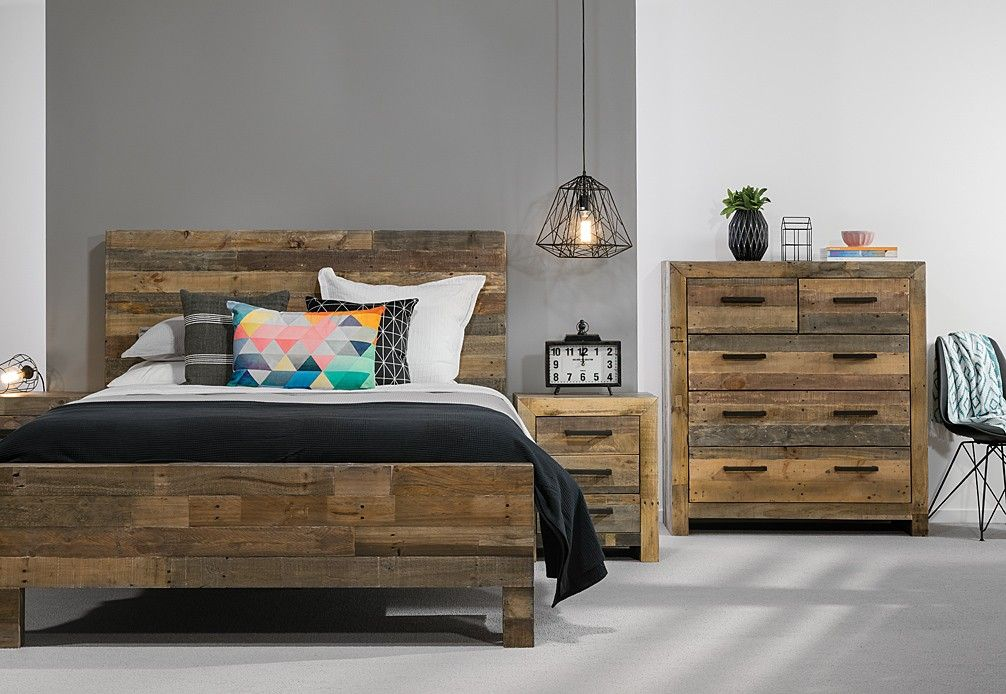 Vintage 4 Piece Tall Chest Queen Bedroom Suite | Super A-Mart ...