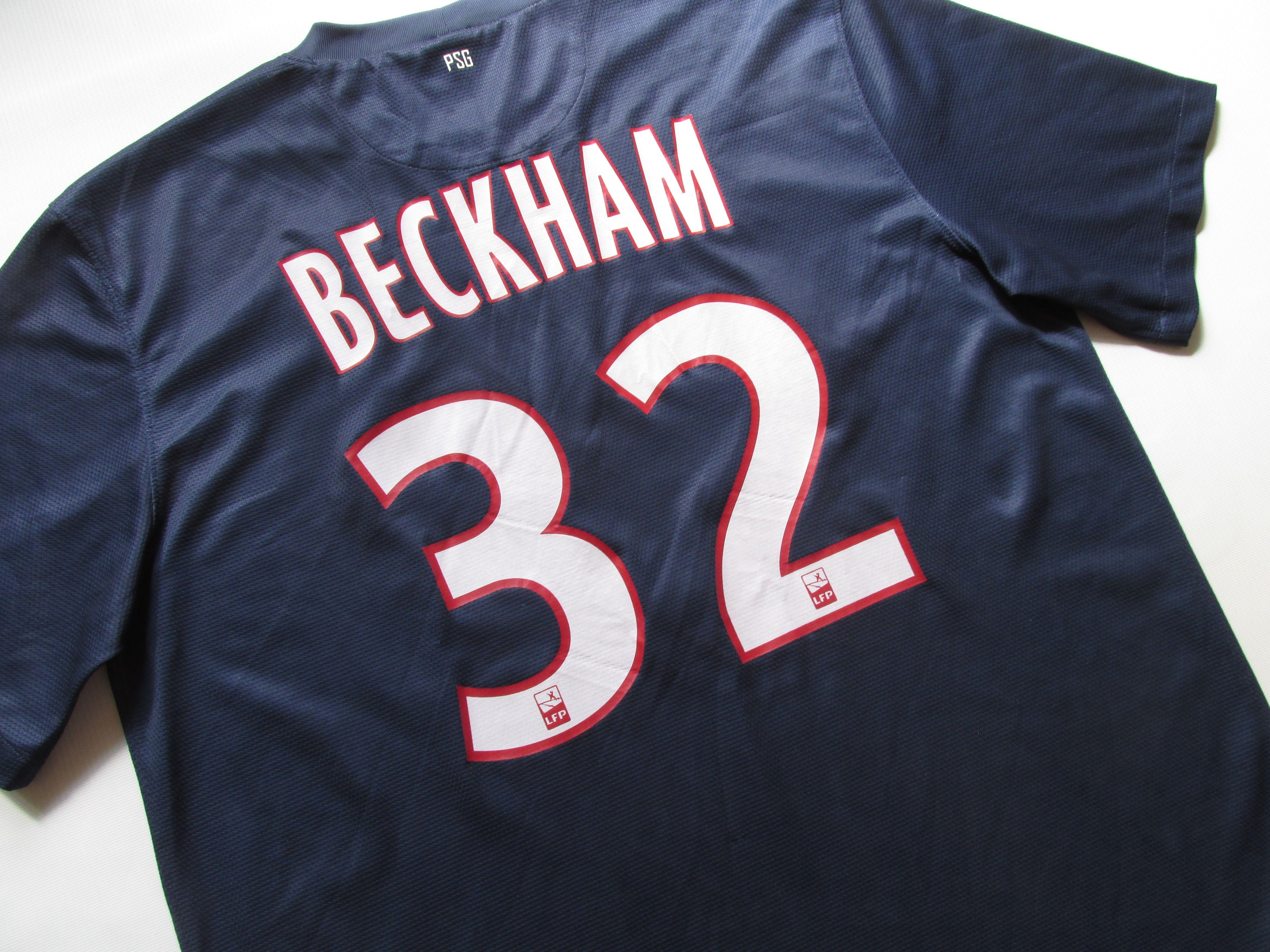 8b7def75869 Paris Saint-Germain 2012 2013 home David Beckham  32 football shirt by Nike  PSG Becks France maillot jersey soccer  paris  parisfrance  psg ...