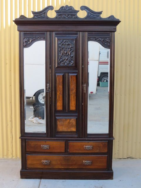 Genial English Antique Armoire Wardrobe Victorian Antique Furniture