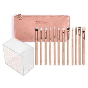 zoeva rose golden eye brush set v2 plus holder  makeup