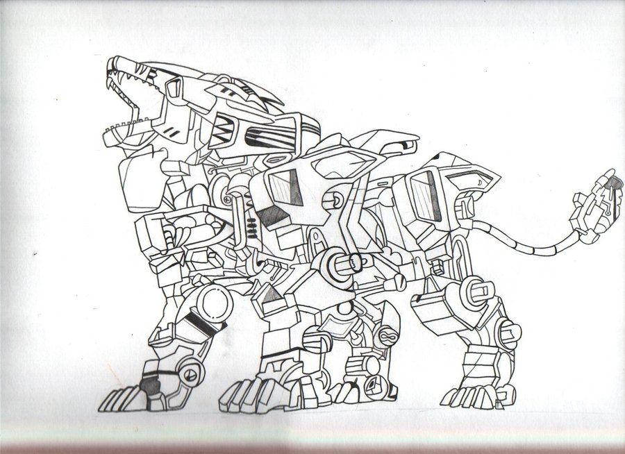 How To Draw Cool Robots Robot Tiger By Itsnotmejay Dengan Gambar