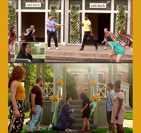 "Dance Superstar TWitch Helps ""Ellen"" Fan With Flash Mob"