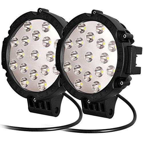 Atnec Led Light Bar 2 X 51w Round Flood Led Work Light Driving Fog Light Off Road Lights Ip67 Waterproof For Offroad Truck Car Offroad Jeep Lights Offroad Jeep