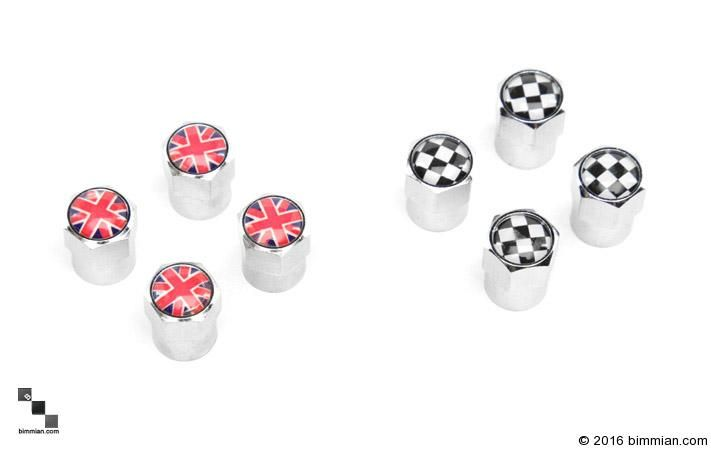 Available In Union Jack And Checkered Flag For All Wheel Types. -  - MINI Valve Covers  - Photo #4