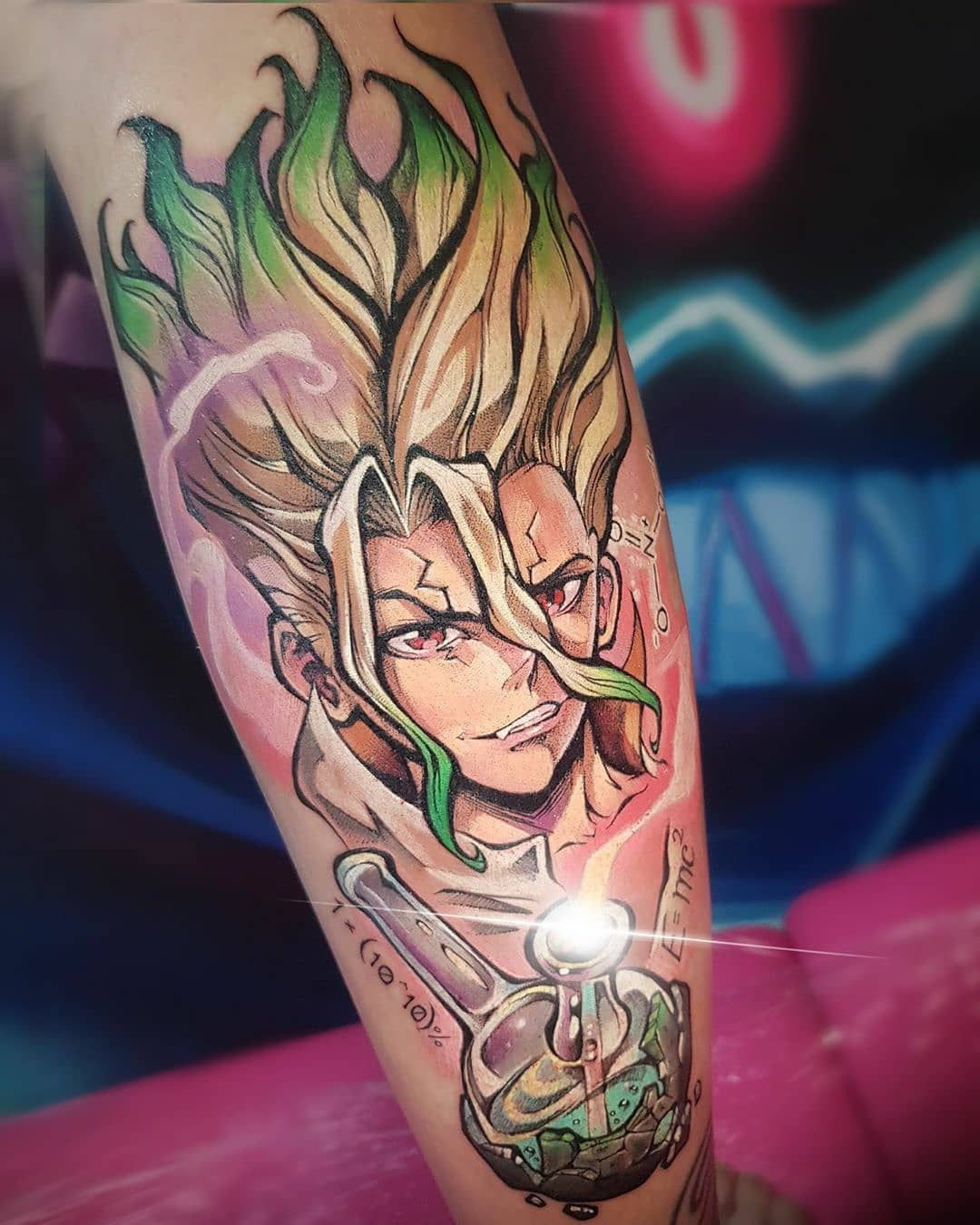 Anime tattoos135k on instagram dr stone tattoo