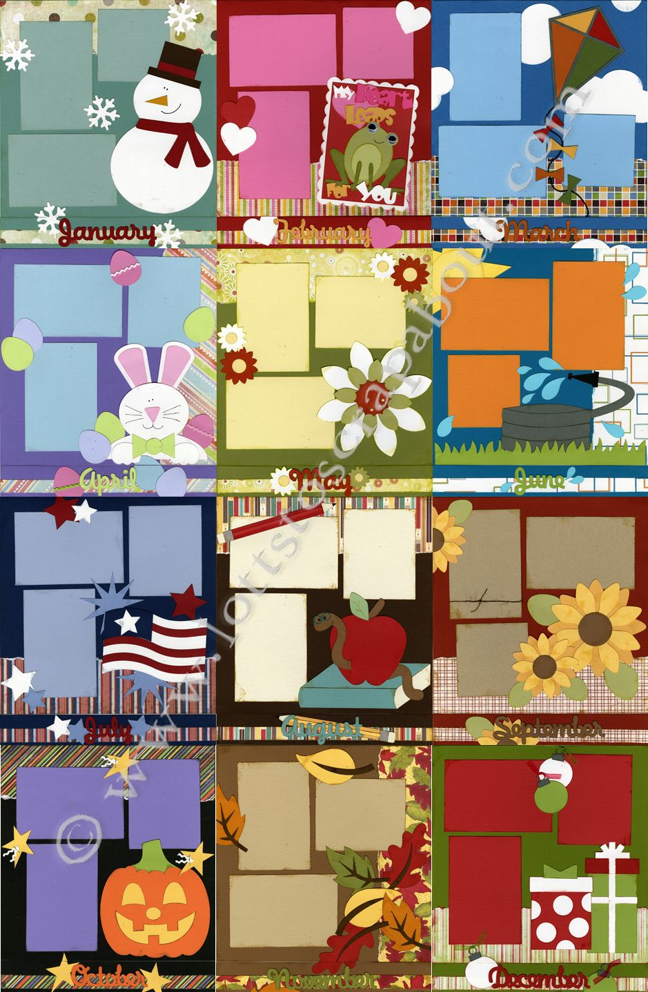 Scrapbook ideas pop up - Great Pages For Basic Layouts Scrapbook
