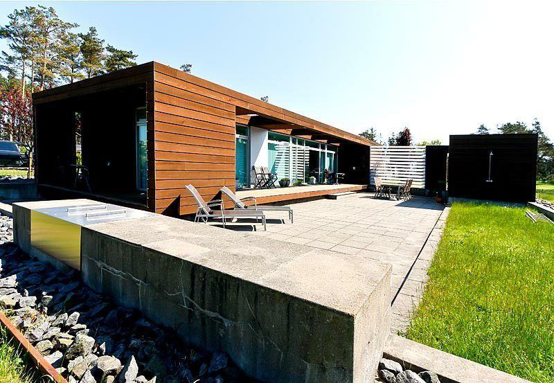 traumhaftes ferienhaus in d nemark mit minimalistischer architektur unweit von der ostsee. Black Bedroom Furniture Sets. Home Design Ideas
