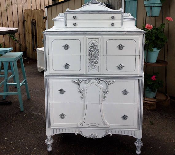 White Painted Dresser Shabby Chic Vintage Furniture