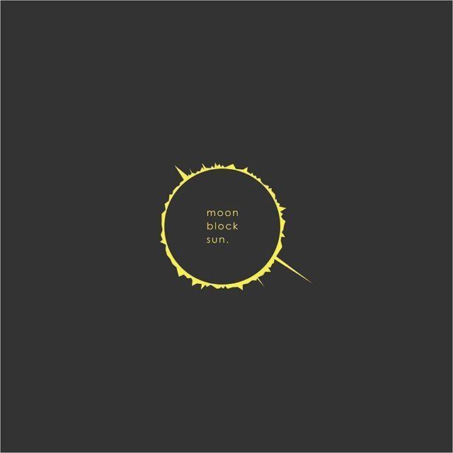 moon block sun totalsolareclipse graphic design logo