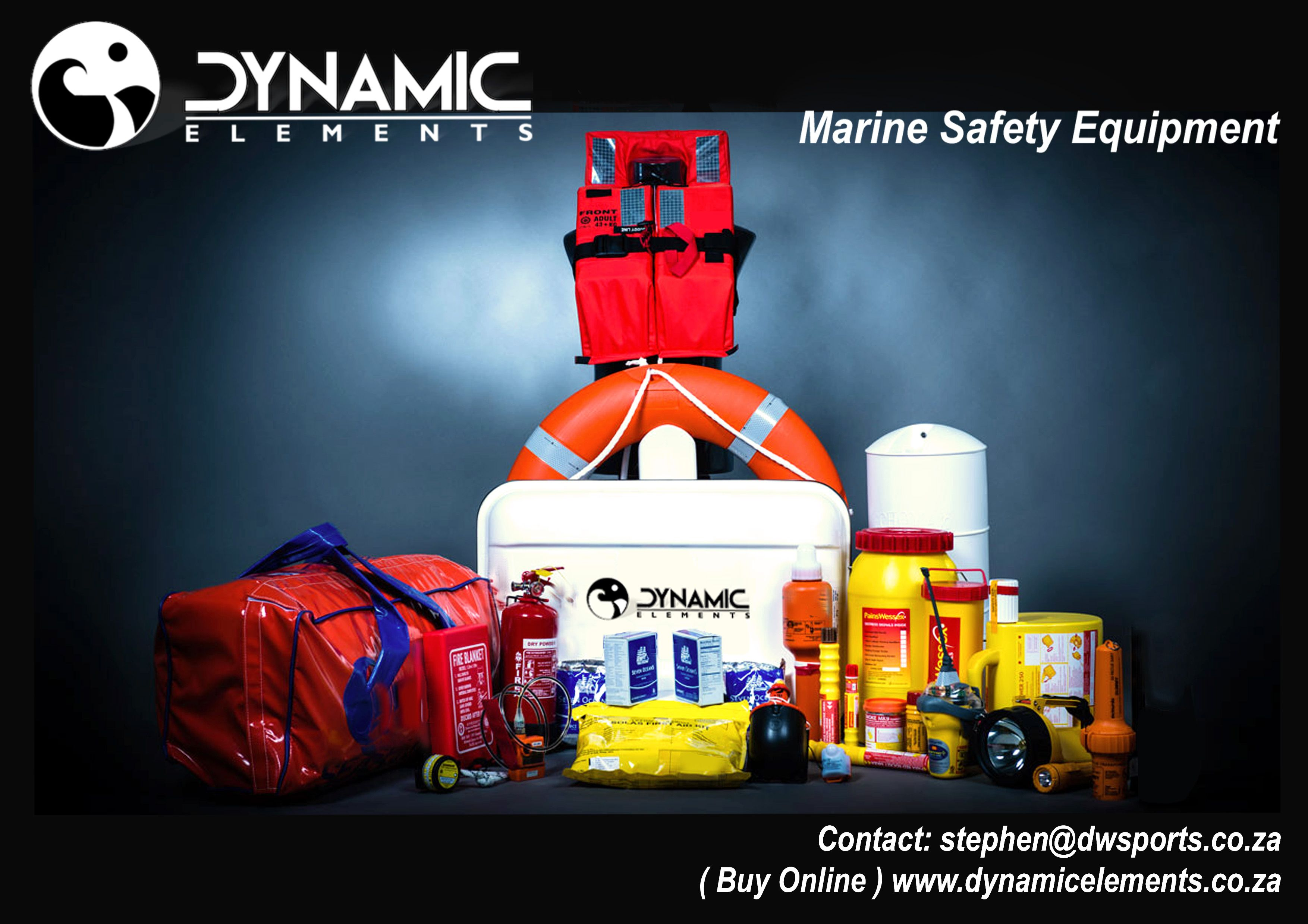 Marine Safety Equipment online at www.dynamicelements.co