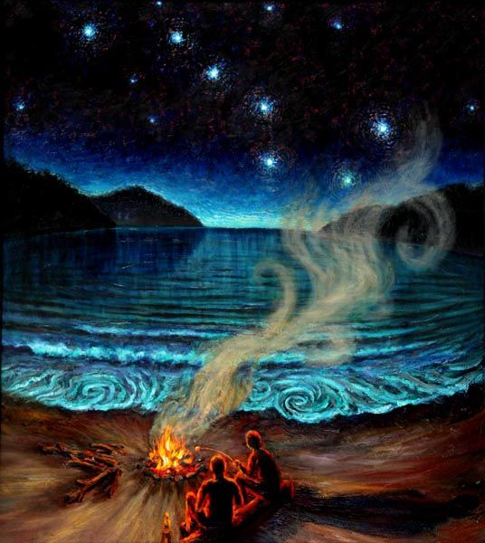 campfire painting - Google Search | art | Diy canvas art ... Campfire Painting