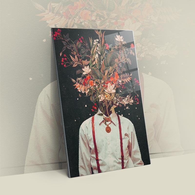 Laub – Acryl / S – 16×20  / 40x50cm