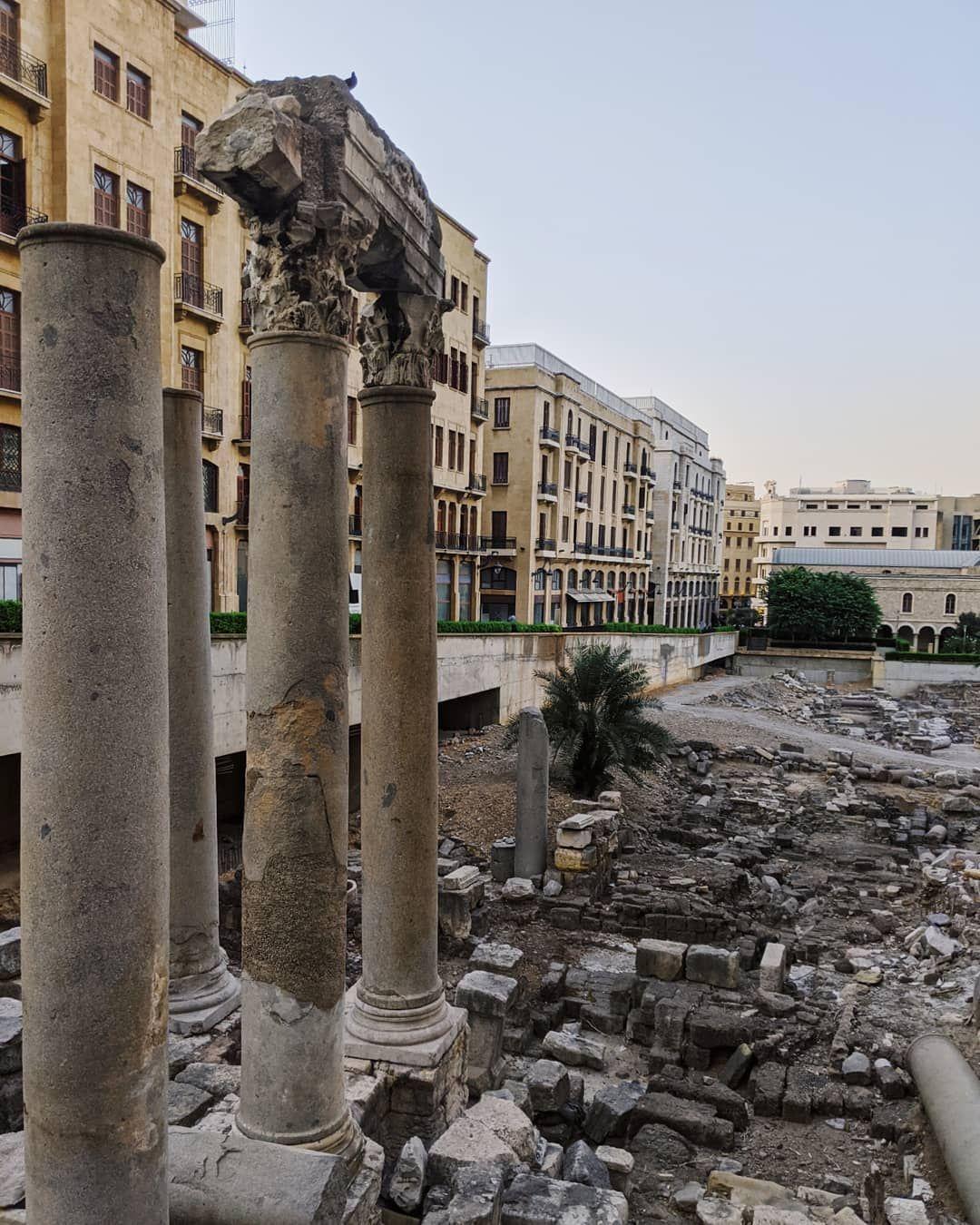 Roman Ruins Of Beirut Travel Beiruttravel Lebanon Romanruins Doingittheelinaway Travellebanon Leaning Tower Of Pisa Ruins Travel