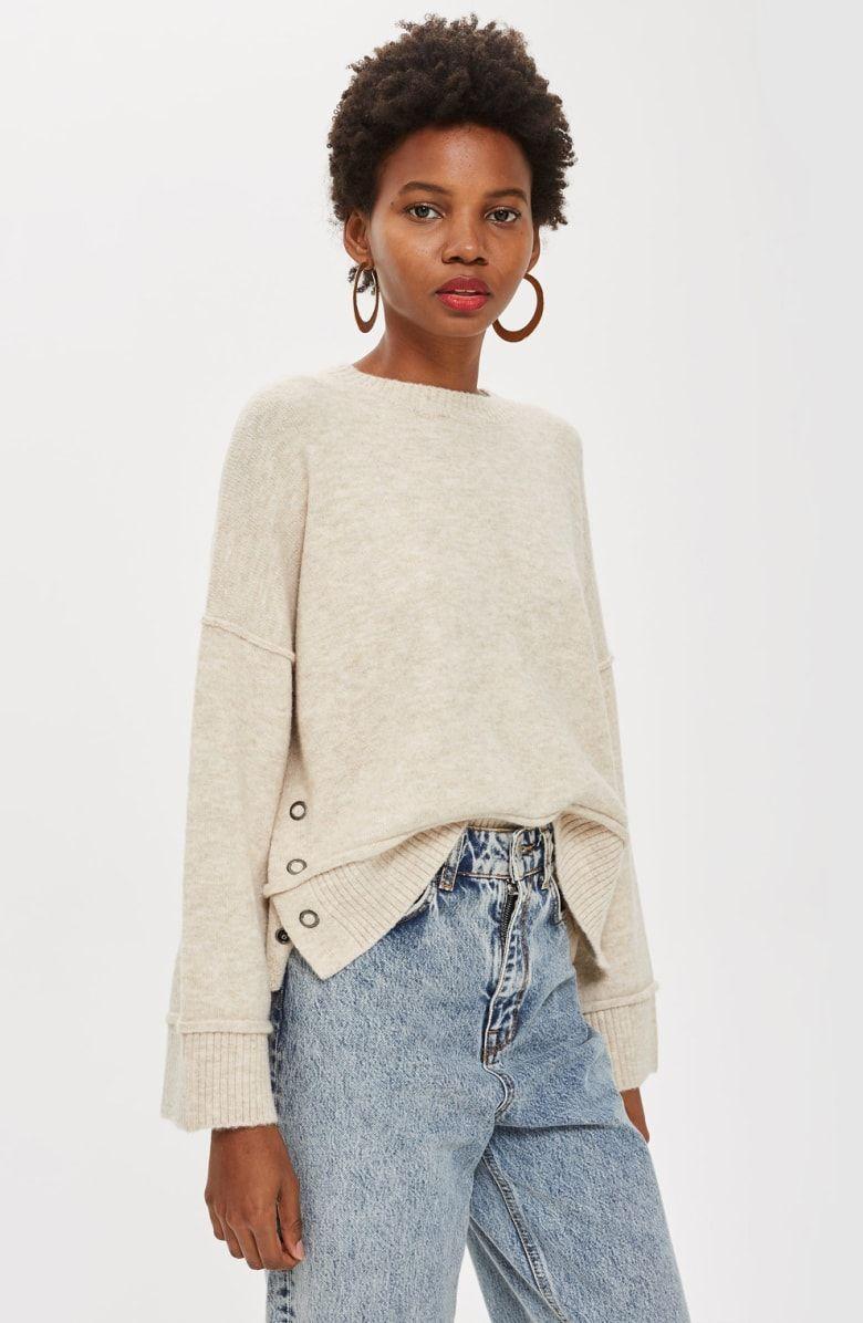 size 40 38f7f decb7 Mo Seam Detail Popper Sweater, Alternate, color, OATMEAL ...