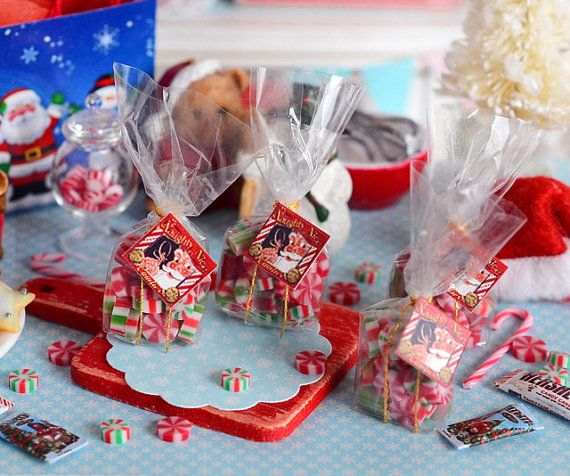 Miniature Christmas Candy Assortment by CuteinMiniature on Etsy