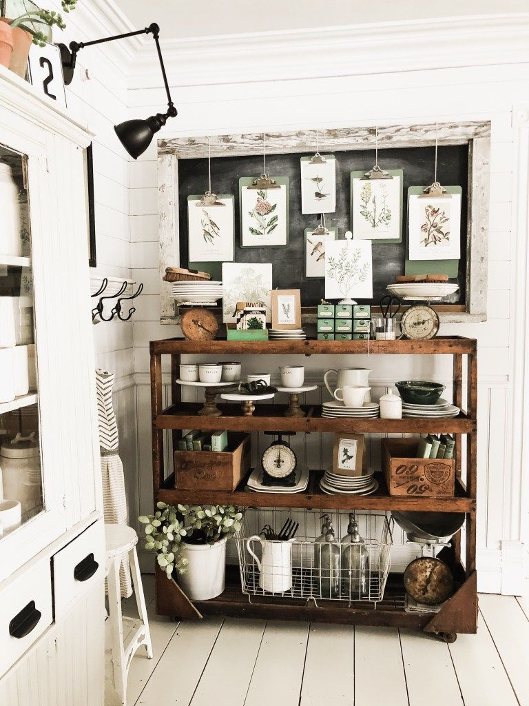 Dining Room Cottage Greenhouse Shelves  Decorating Kitchen Ideas