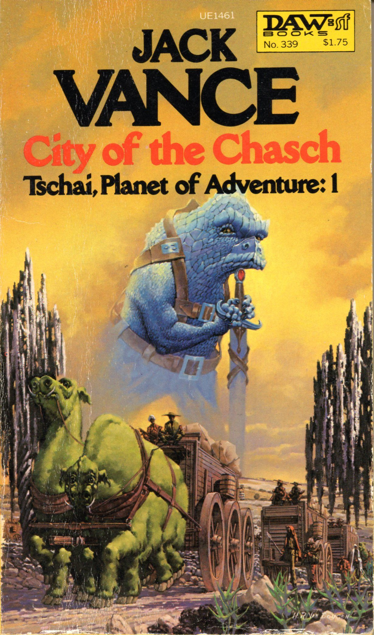 Fantasy Adventure Book Cover : Tschai planet of adventure city the chasch jack