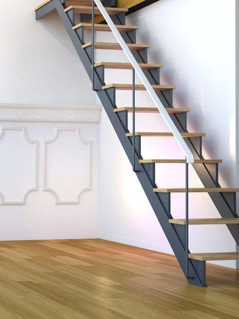 moderne raumspartreppe metallwangen treppe pinterest. Black Bedroom Furniture Sets. Home Design Ideas