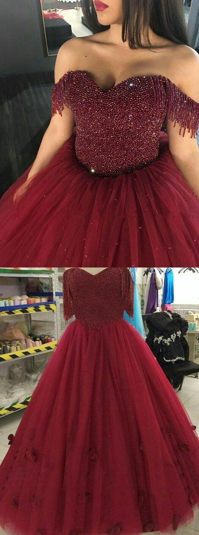 Bonito En 2019 Vestidos De Xv Rojos Vestidos Vino Y