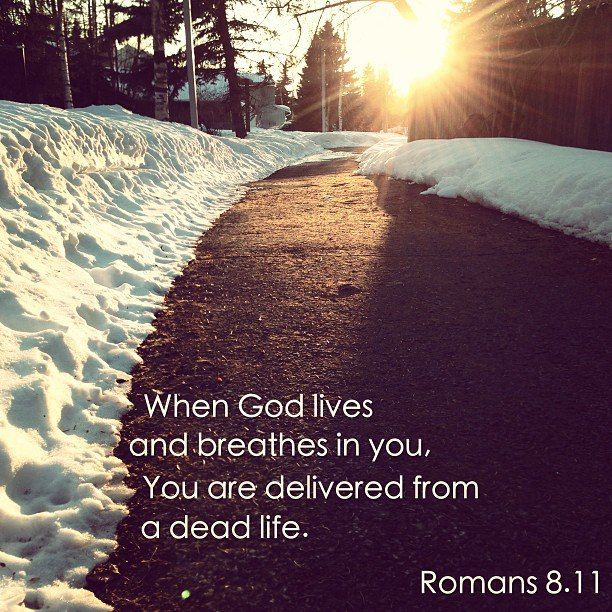 when God lives and breathes in you, you're delivered from a dead life.