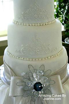 elegant white and silver wedding cakes three tier white wedding cake with silver 13999