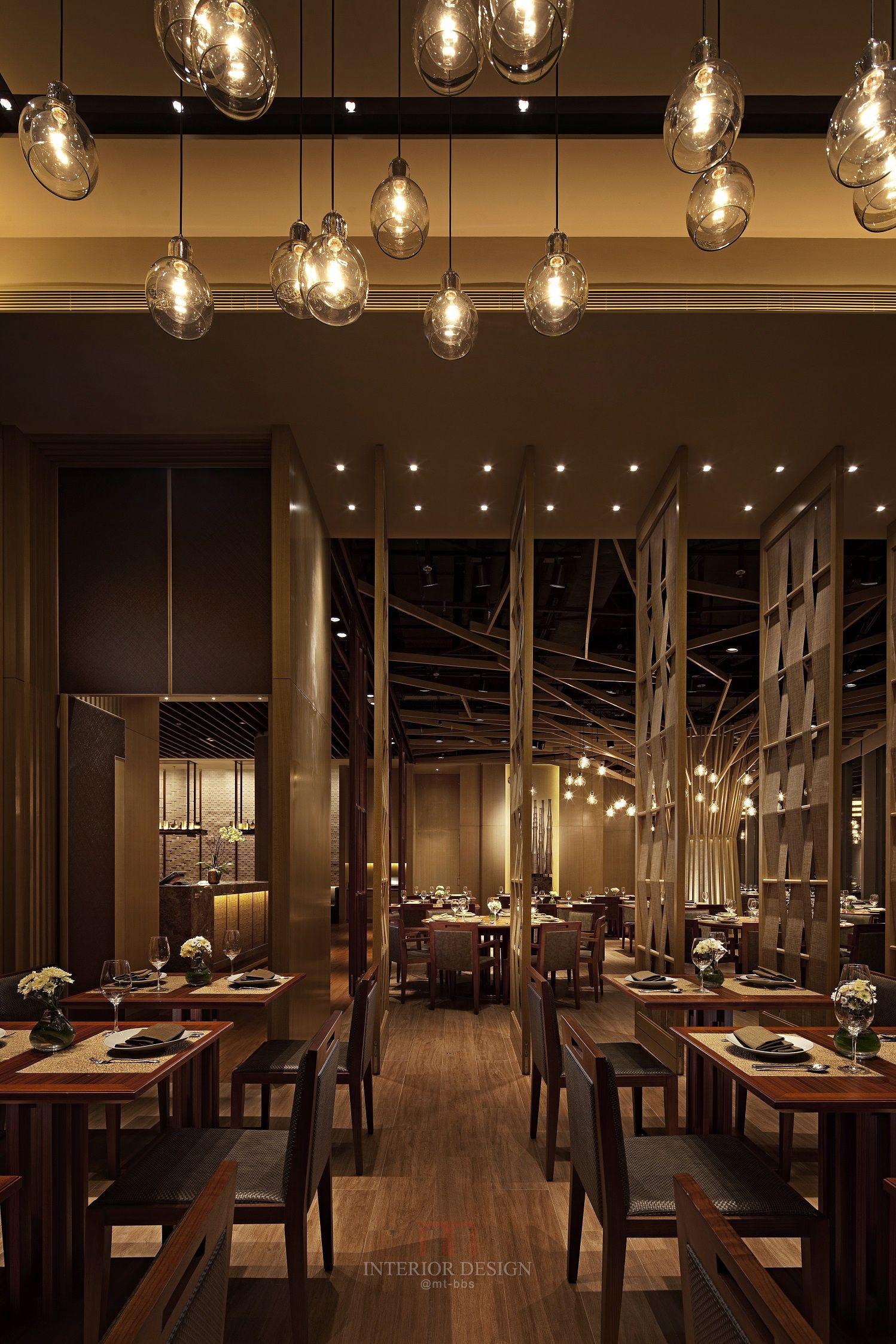 Simple restaurant interior design architecture
