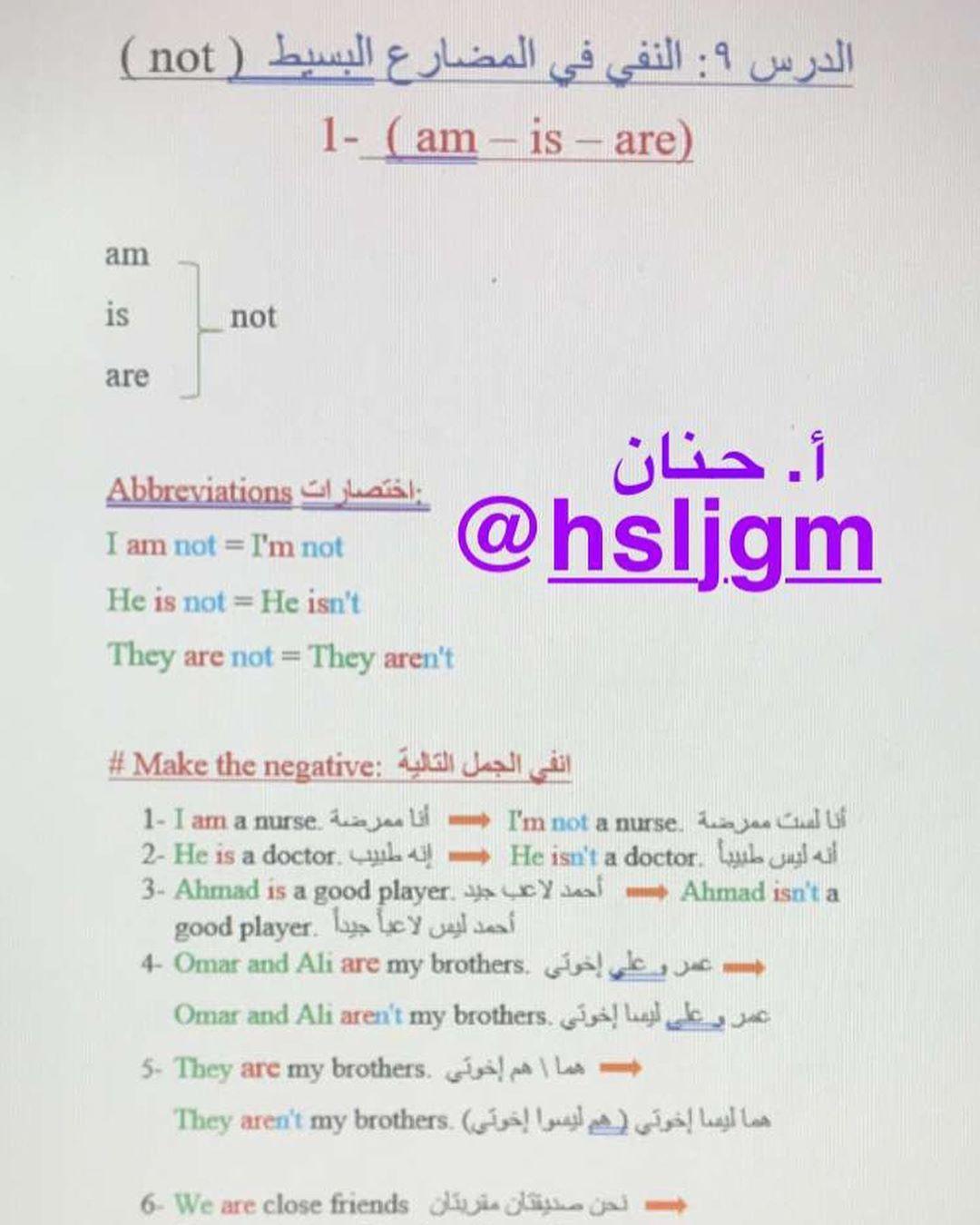 الان على السناب Hsljgm تكملة قاعدة المضارع البسيط الجزء الاول Simple Present Tense Engl Language Teaching English Language Teaching English Grammar