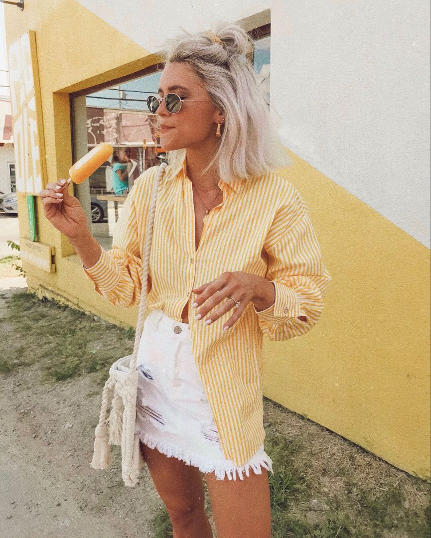 STREET STYLE SPRING SUMMER 2020 TREND WOMEN'S FASHION WOMEN'S STYLE OOTD OUTFIT INSPIRATION