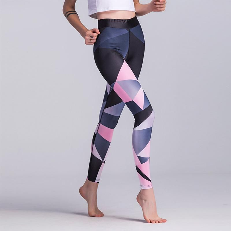 a2eb3293 Pink Geometric Triangle Breathable Dry Leggings in 2019   awesome ...