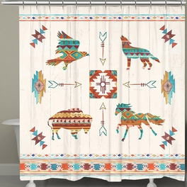 Southwest Animals Shower Curtain Black Forest Decor Western