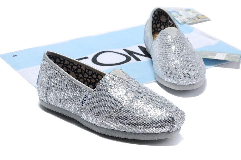 Toms Glitter Shoes Womens Silver : Toms Outlet Online,Cheap Toms shoes, Toms  outlet store online,which provide best toms shoes online.