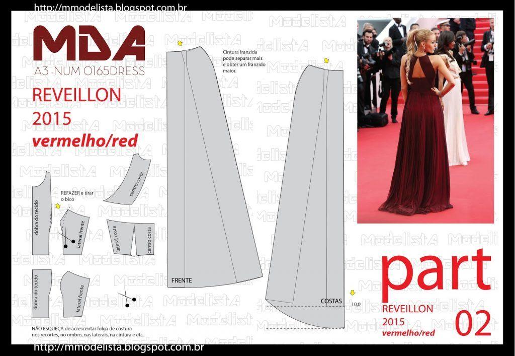 vestido largo patrones 2 | PATRONES DE COSTURA | Pinterest