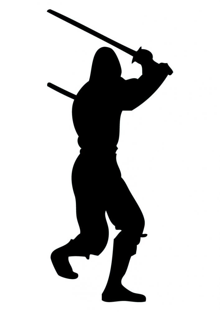 Search Results For Ninja Silhouette Silhouette Clip Art Ninja Party