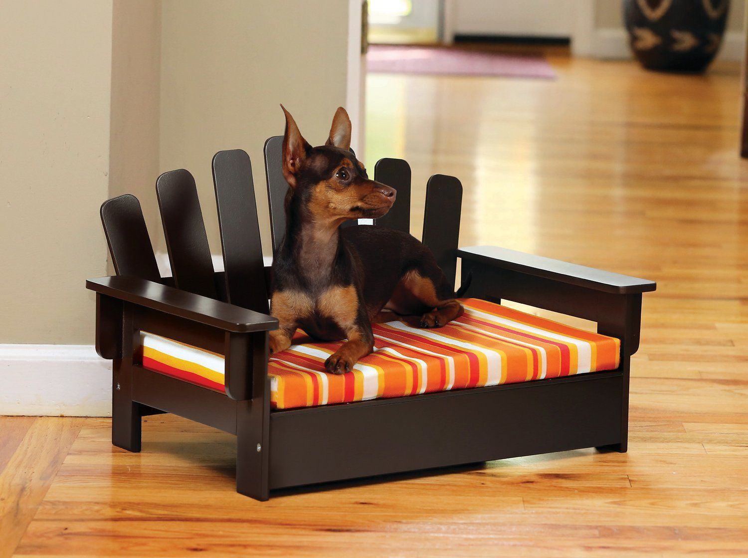 let your pal lounge in leisurely luxury with the etna adirondack dog rh pinterest com