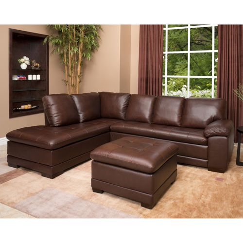 Amazing Metropolitan Leather Sectional And Ottoman For The Home Pabps2019 Chair Design Images Pabps2019Com