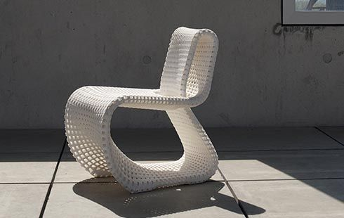 Cellular Loop: Stuhl Aus Dem 3D Drucker. Weltweit Erster Gedruckter  Freischwinger (Design