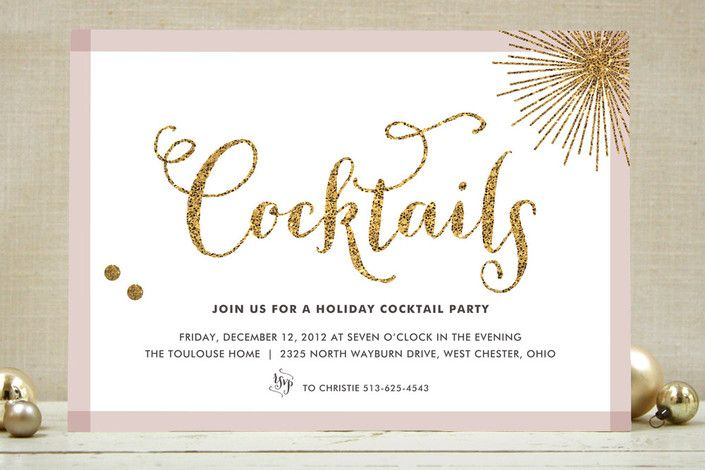 Im So Loving These Invites Glitter Bling Holiday Party Invitations By Carrie Minted