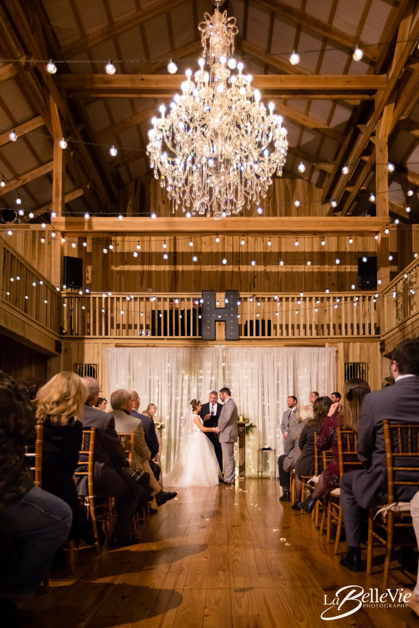 Mid-wedding ceremony at the beautiful Bagsby Ranch in Gallatin TN ...