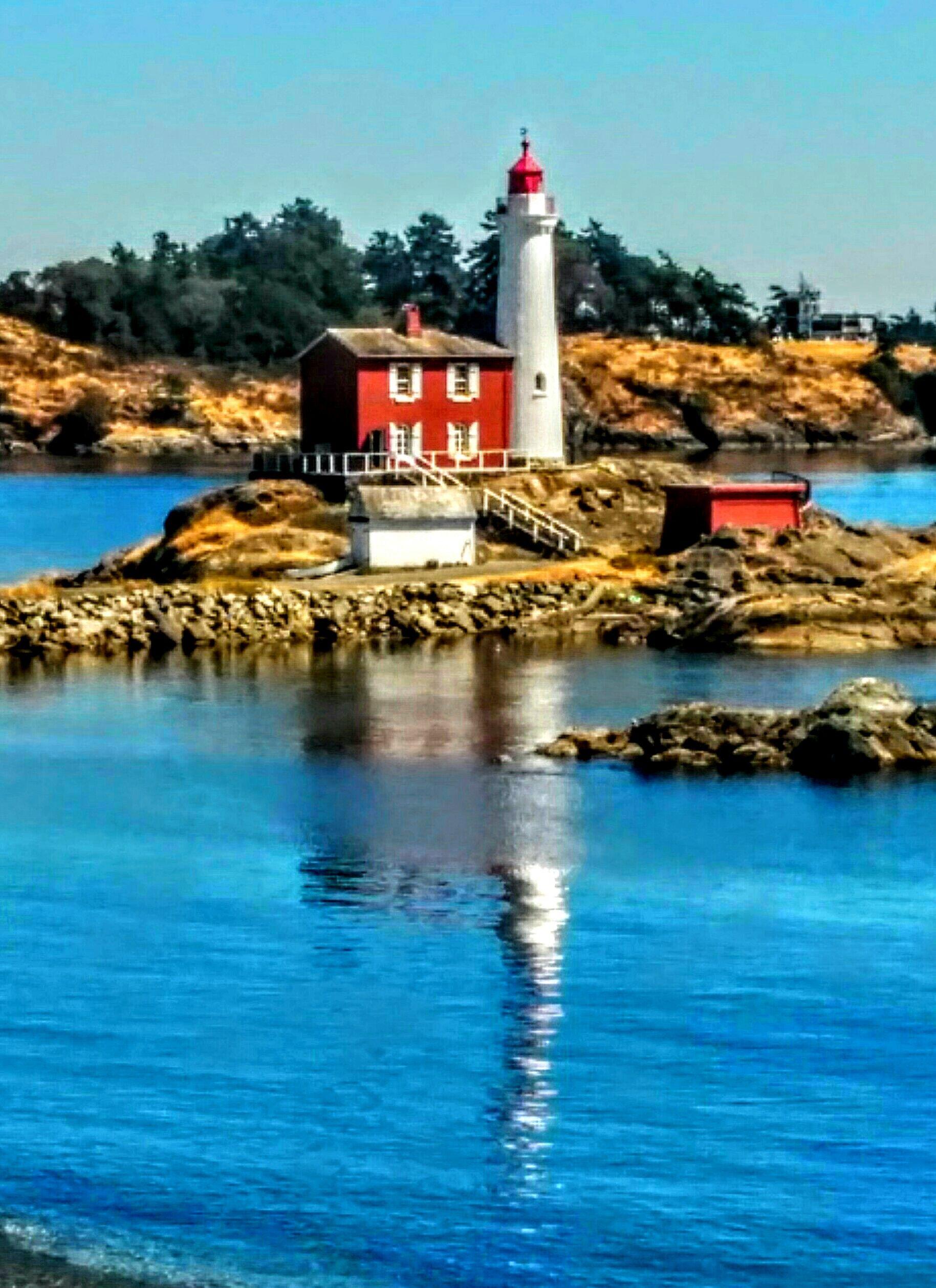 Fisgard Lighthouse at Fort Rodd Hill, Victoria BC.  Photo by Dennis Jenson