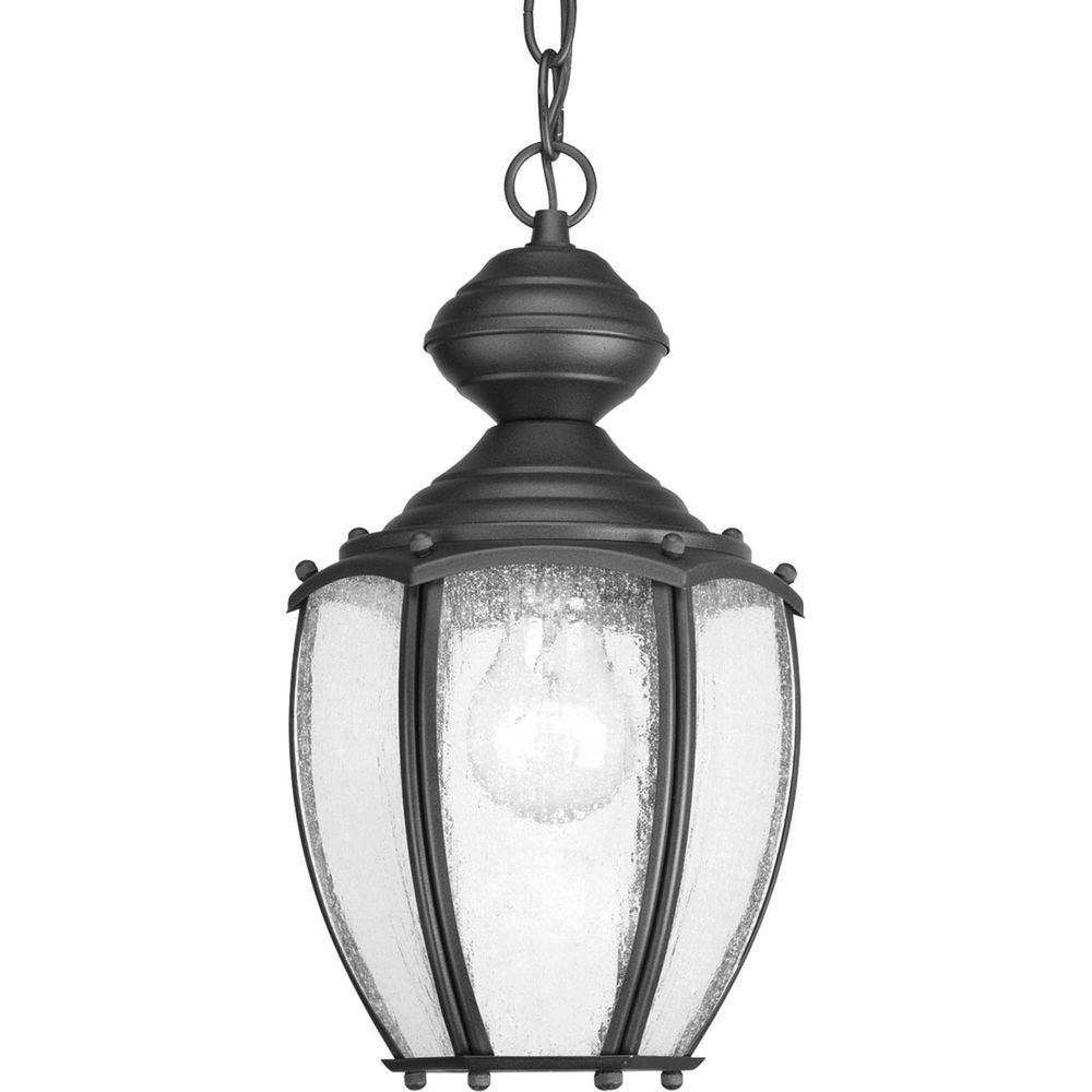 Roman Coach Collection 1-Light Black Hanging Lantern